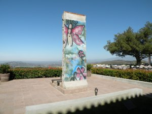 Section of the Berlin Wall on display at The Ronald Reagan Presidential Library.